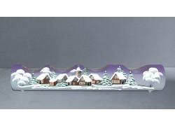 Vánoční svícen válec na 4 svíčky grafika