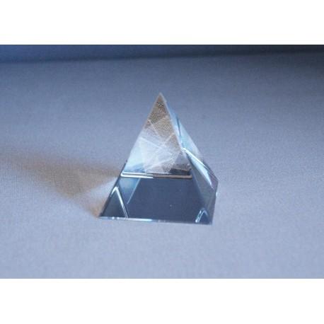 Pyramida křišťálová 70 mm čirá
