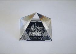 Pyramida pískovaná 35 mm crystal