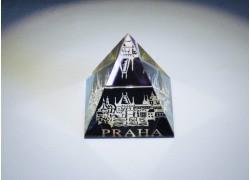 Pyramida pískovaná 50 mm pokovená Praha II - mostecká věž