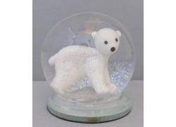 Sněžící koule lední medvěd 60 mm