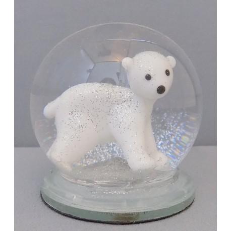 Sněžící koule lední medvěd 60 mm www.sklenenevyrobky.cz