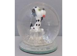 Sněžící koule a pes Dalmatin