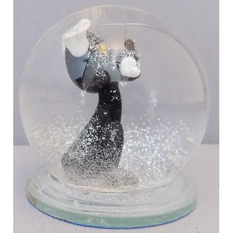 Sněžící koule Pes s kostí 60 mm