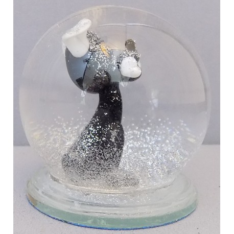 Sněžící koule Pes s kostí I 60 mm