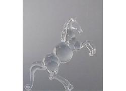 Glass horse made of clear glass www.sklenenevyrobky.cz