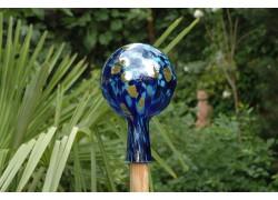 Plotová koule z hutního skla 12cm XIII.