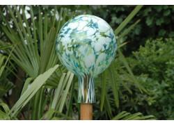 Plotová koule z hutního skla 15cm X.