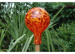 Fence glass ball 15cm XII. www.sklenenevyrobky.cz