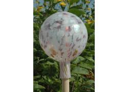 Plotová koule z hutního skla 20 cm III.