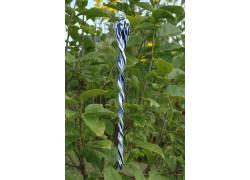 Glass spiral 45cm - blue white www.sklenenevyrobky.cz