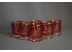 Sklenice Barline 60ml set 6 ks červený listr