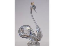 Schwan 1066 - Kristall, mit einer Krone www.sklenenevyrobky.cz