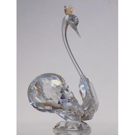 Swan 1066 - crystal, with a crown www.sklenenevyrobky.cz