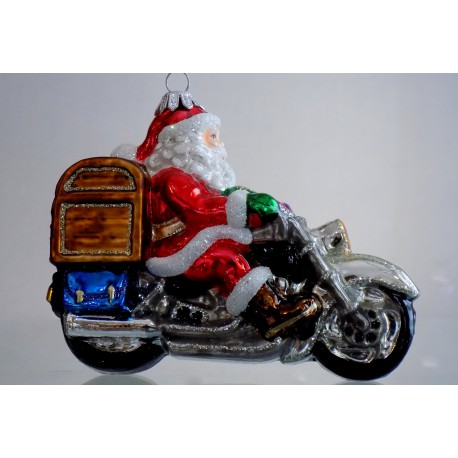 Santa na motorce s truhlou dárků 615
