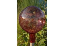Plotová koule z hutního skla 20cm VIII