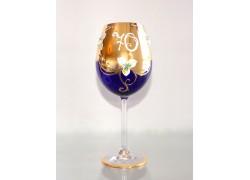 Výroční sklenička Natálie II 70 Kobaltová modř 590 ml