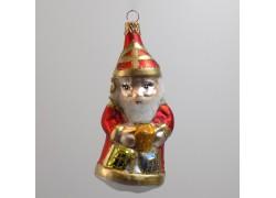 Vánoční ozdoba Mikuláš s dárky F71 červený