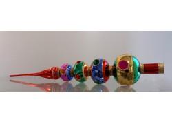 Špička na vánoční stromeček 4 koule barevná vpichovaná
