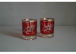 Sklenice Barline 60ml duo červený listr