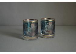 Sklenice Barline 60ml listr duo modrý listr