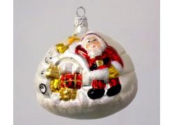 Christmas decoration of the Igles from Greenland with Santa www.sklenenevyrobky.cz