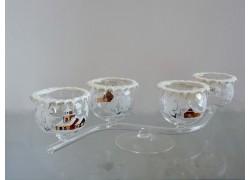 Christmas candle holder - four cups www.sklenenevryobky.cz