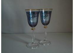 Angela listr duo dekor labuť modrá