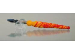 Glass pen 12cm www.sklenenevyrobky.cz