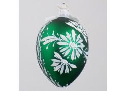 Velikonoční vejce 8001 zelené s bílou kopretinou