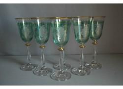 Wine glass, 6 pcs, decor grape, in green, 250ml www.sklenenevyrobky.cz