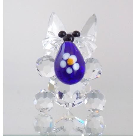 Velikonoční zajíček s modrou kraslicí 704