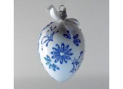 Velikonoční vejce 1003 bílé modrý dekor