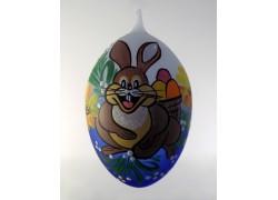 Velikonoční vejce modré s zajíčkem15 cm