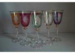 Angela listr set 6ks dekor víno mix