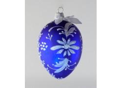 Velikonoční vejce 8001 modré s bílou kopretinou