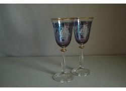 sklenice Angela 250ml duo ryté hrozno modrý listr