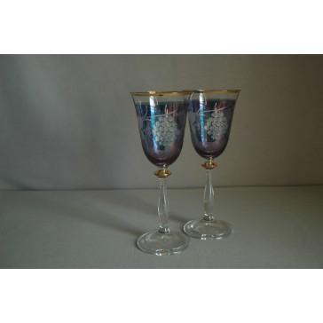 Angela listr duo dekor víno modrá