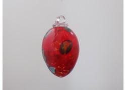 Vajíčko z hutního skla červené I. 8 cm