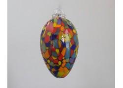 Vajíčko z hutního skla barevné VI. 8 cm