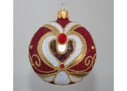 Vánoční ozdoba koule zdobená