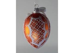 Velikonoční vejce 3002 bronz s bílou krajkou