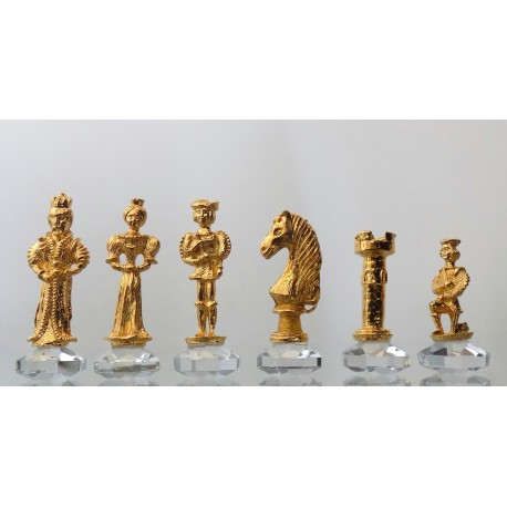 Skleněné šachy 32x32 cm Antik