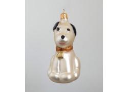 Vánoční ozdoba pes F397 béžový