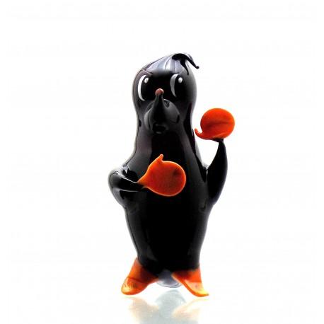 Mole made of blown glass www.sklenenevyrobky.cz