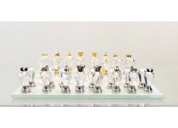 Šachy křišťálové 15x15 cm