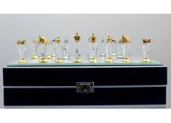 Šachy - drops broušený 25x25 cm