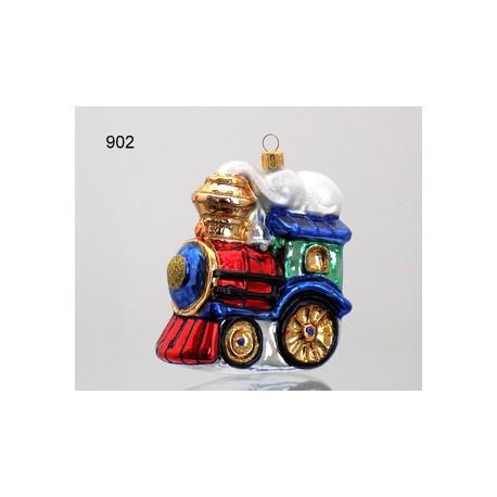 Christmas ornament Train with fairy smoke www.sklenenevyrobky.cz