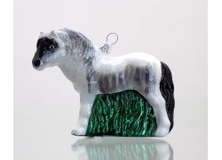 Christmas ornament Horse white www.sklenenevyrobky.cz