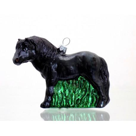 Vánoční ozdoba kůň černý 850